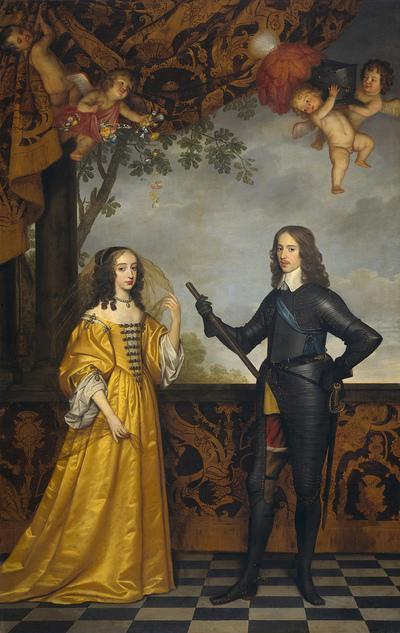 Мария с мужем Вильгельмом II, штатгальтером Соединенных Провинций.